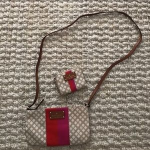 Kate spade crossbody and matching wallet set